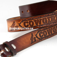 Name belt Cowgirl Up