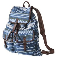 Mossimo Supply Co. Flannel Aztec Print Backpack - Blue