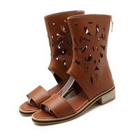 Zipper Gladiator Sandals Summer Boots Women Shoes 2605