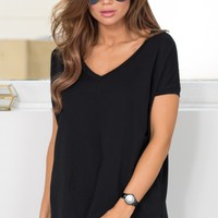 Back To Basics top in black Produced By SHOWPO