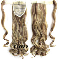 Ponytail Hair Extension Heat Proof Synthetic Wrap Around Invisable Long wavy Velcro Ponytail Hair Extension Clip In on Hair Pony Tail,Wig Hairpiece,woman wigs,wig hairs,Bath & Beauty,Accessories BIP-888 F10/22
