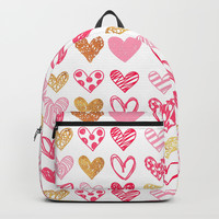 Doodle Hearts Backpacks by All Is One