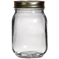 Bulk Clear Glass Canning Jars with Metal Lids, 16.9 oz. at DollarTree.com