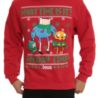 Adventure Time Holiday Time Crew Pullover