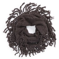 Junior Women's BP. Knotted Fringe Knit Infinity Scarf