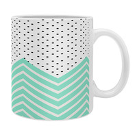 Allyson Johnson Minty Chevron And Dots Coffee Mug