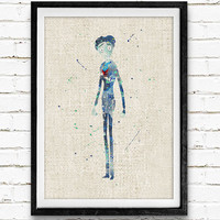Victor, Corpse Bride Watercolor Art Print, Kids Decor, Wall Art, Home Decor, Not Framed, Buy 2 Get 1 Free!