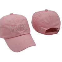 Pink ALMOST FAMOUS Embroidered Baseball Cap Hat