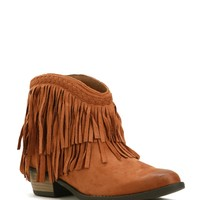 Sale- Rust Old West Fringe Booties