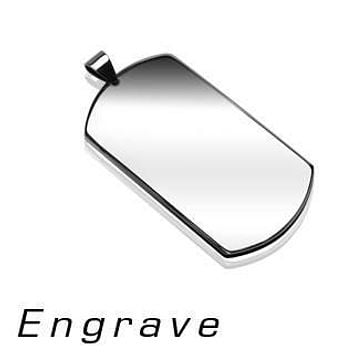 Heroic - Stainless Steel Dog Tag Simple and Engrave Ready Pendant