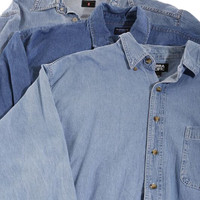 Mystery Long Sleeve Chambray Denim / Jean Shirt