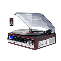 TechPlay 3-Speed Turntable & Cassett player W-SD USB, MP3 Encoding System and AM-FM Stereo Radio