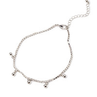 Rhinestoned Ball Charms Anklet
