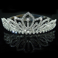 2016 New Fashion Princess Bride rhinestone crystal tiara crown wedding accessories