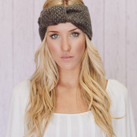 Charcoal Knitted Turband