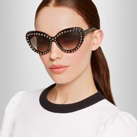 Prada | Cat eye studded acetate sunglasses | NET-A-PORTER.COM