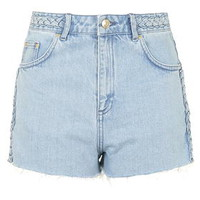 MOTO Bleach Plaited Mom Shorts - Bleach