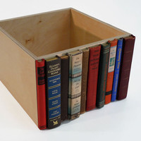 Modern Library Storage Bin Stylish Storage by RoadsidePhotographs