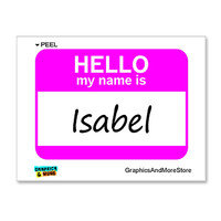 Isabel Hello My Name Is Sticker