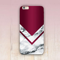 Burgundy Marble Print Phone Case  - iPhone 6 Case - iPhone 5 Case - iPhone 4 Case - Samsung S4 Case - iPhone 5C - Tough Case - Matte Case