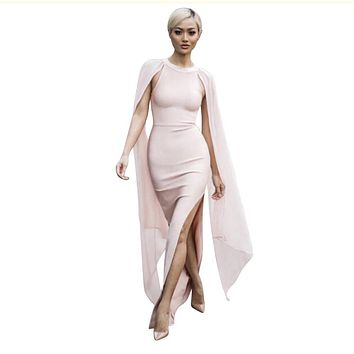 Long Spring Bandage Maxi Dress