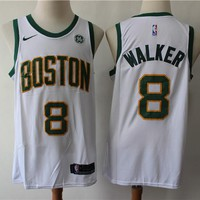 Boston Celtics 8 Kemba Walker White City Edition Basketball Jersey