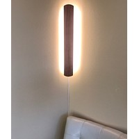 """3""""W Solid Wood Hover Plank Corner/Wall Accent Light Plug-In  by Home Concept"""