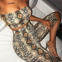 Sexy Off Shoulder Women Crop Top and Shorts Set Serpentine Tube Top Slim Short Pants Two Piece Set