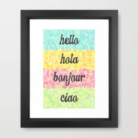 Hello Colors Framed Art Print by MN Art