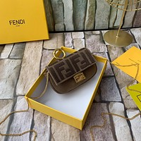 Fendi Women Leather Shoulder Bag Satchel Tote Bags