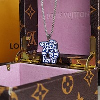 lv louis vuitton woman fashion accessories fine jewelry ring chain necklace earrings 122