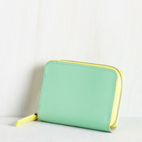 Pastel Coin the Club Change Purse in Mint by ModCloth