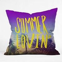 Leah Flores Summer Lovin Throw Pillow