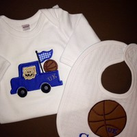 UK Wildcats Baby Gown and Bib Set