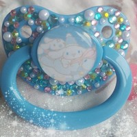 Cinnomo-blue Adult Pacifier from Binkie Kisses Co.