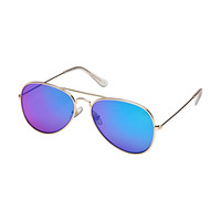 Blue Planet Sunglasses - Hayes - Gold/Blue