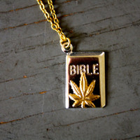Weed Bible Necklace