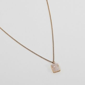 DesignB London Crystal Pendant Necklace at asos.com