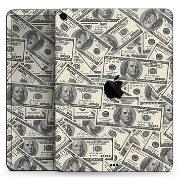 """Hundred Dollar Bill - Full Body Skin Decal for the Apple iPad Pro 12.9"""", 11"""", 10.5"""", 9.7"""", Air or Mini (All Models Available)"""