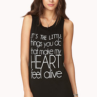 Crazy Hearts Knotted Muscle Tee
