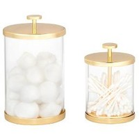 Canister Gold/Glass (Large) - Nate Berkus™