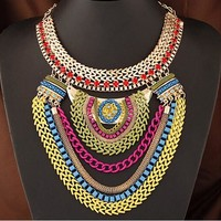 Gift Jewelry Stylish Shiny New Arrival Fashion Metal Chain Necklace [6586264455]