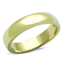 Men's Gold Wedding Band Ring