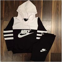 """NIKE"" Fashion Print Hoodie Two-Piece Sweater Pants"