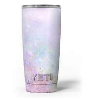 The Tie-Dye Cratered Moon Surface - Skin Decal Vinyl Wrap Kit compatible with the Yeti Rambler Cooler Tumbler Cups