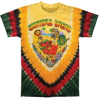 Grateful Dead Men's  Positive Vibrations Tie Dye T-shirt Multi