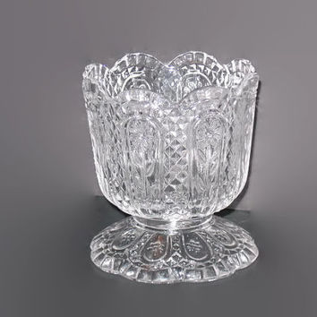 Vintage Avon, Pedestal Candle Holder, Candy Dish, Compote, Home decor, Collectible Glass, Vintage Candle Dish, Pedestal Holder, Tulip Glass