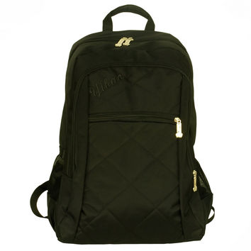 Diamond Check Stylish Backpack / School Bag / Laptop Backpack / Dayback - Black