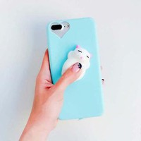 Phone Cases For iPhone 6 6S 7 Plus Case 3D Funny Squishy Toys