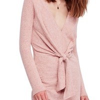 Free People Ginger Cozy Tie Front Dress | Nordstrom
